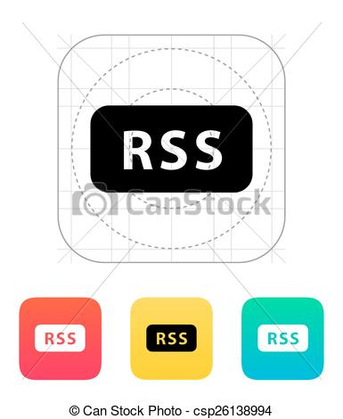 EPS Vectors of News Feed icon. Vector illustration. csp26138994.
