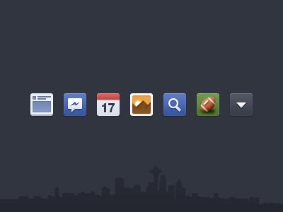 Facebook Newsfeed Icons, Vectors.