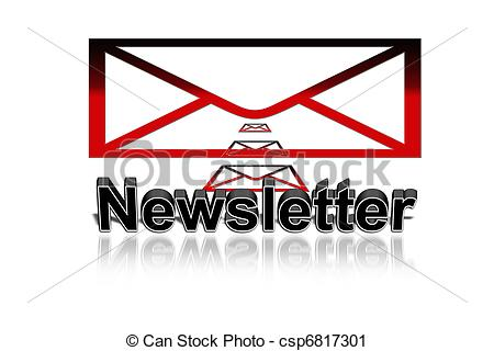 Clipart of newsletter, button csp6817301.