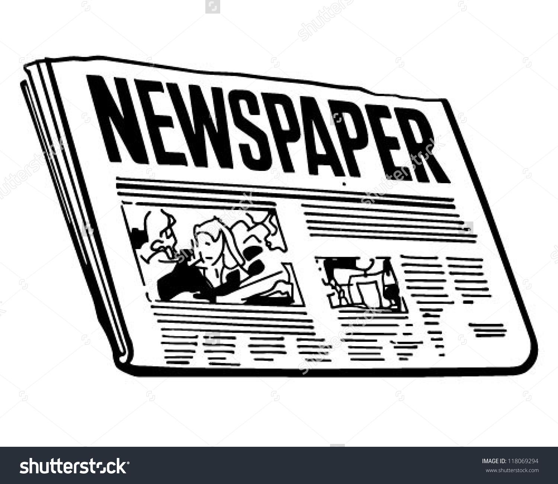 2375 Newspaper free clipart.