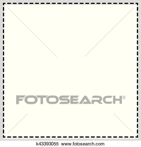 Rectangular, square photo frame. Newspaper, classified ad background and  border. Clipart.