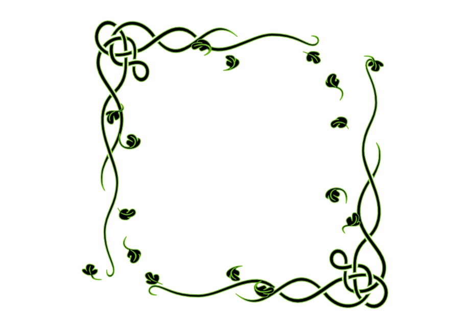 Leafy Frame Clip Art.