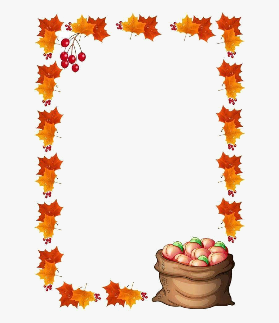 Fall Border Clipart Husk Dette Paper Frames Transparent.