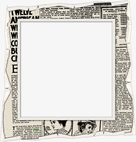 Newspaper Frame Clipart.
