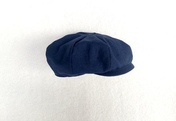 Navy Newsboy Ring Bearer Hat Baby Boy Prop Toddler Newsboy.