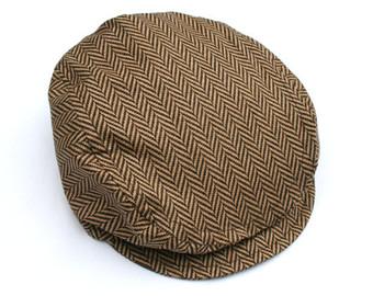 Newsboy cap.