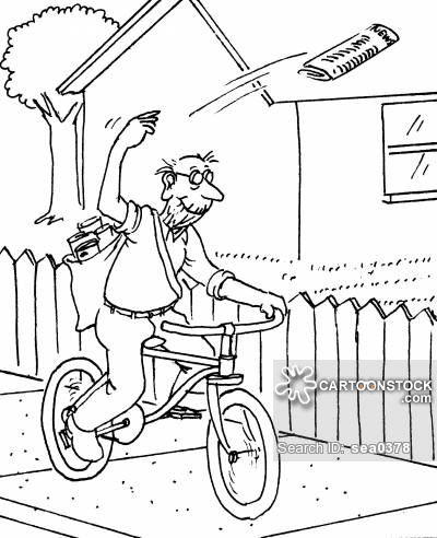 Newspaper Delivery Cartoons and Comics.