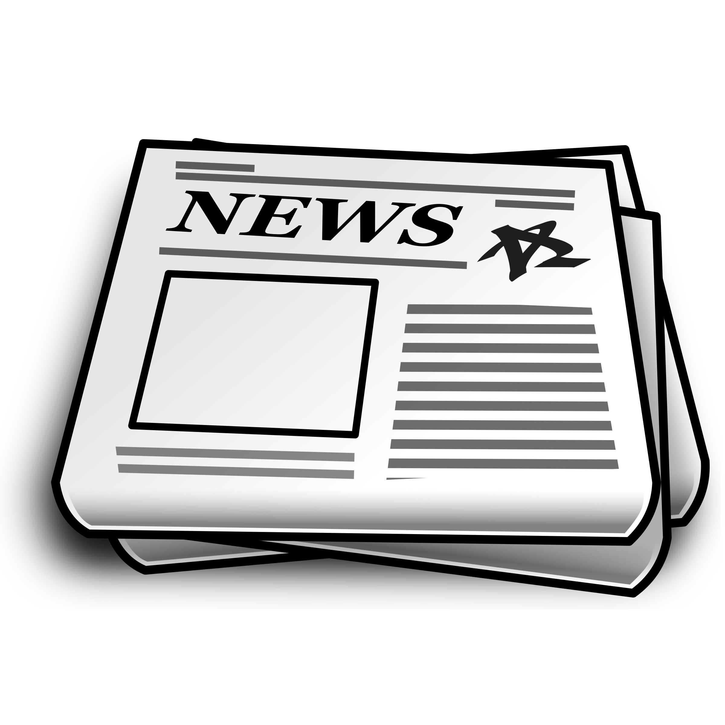Newspaper clipart black and white clipart images gallery for.