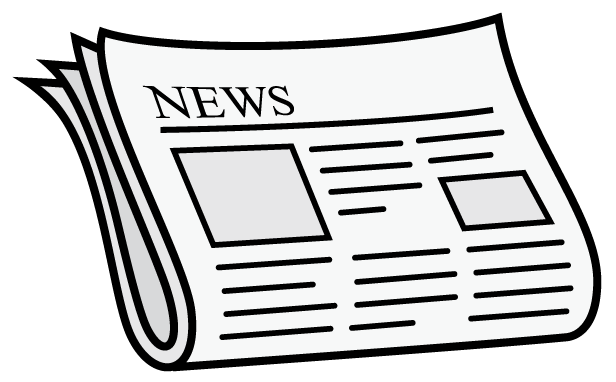 Newspaper clipart black and white » Clipart Station.
