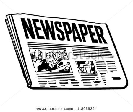 News Clipart Newspapaer Cute Borders, Vectors, Animated.