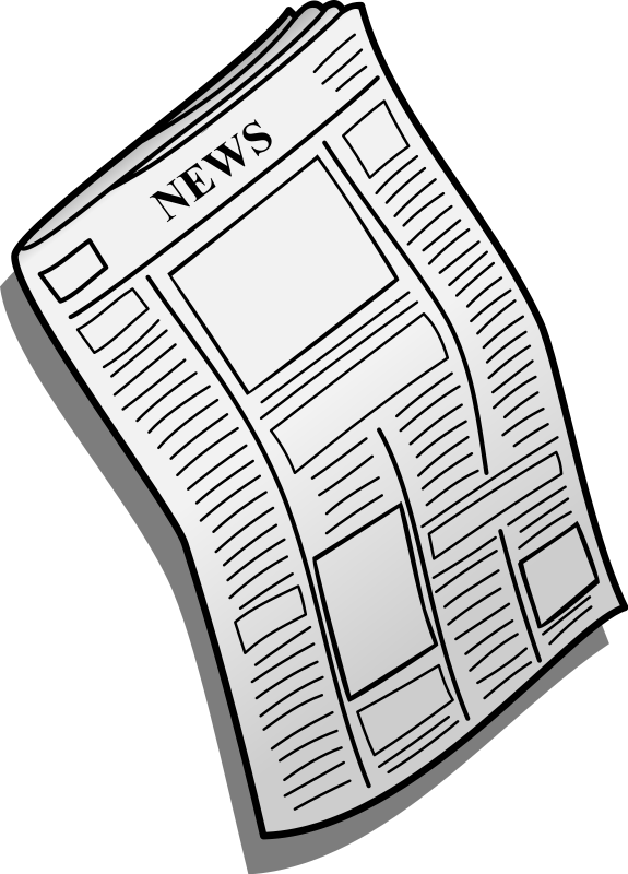 Newspaper clipart free images 2.