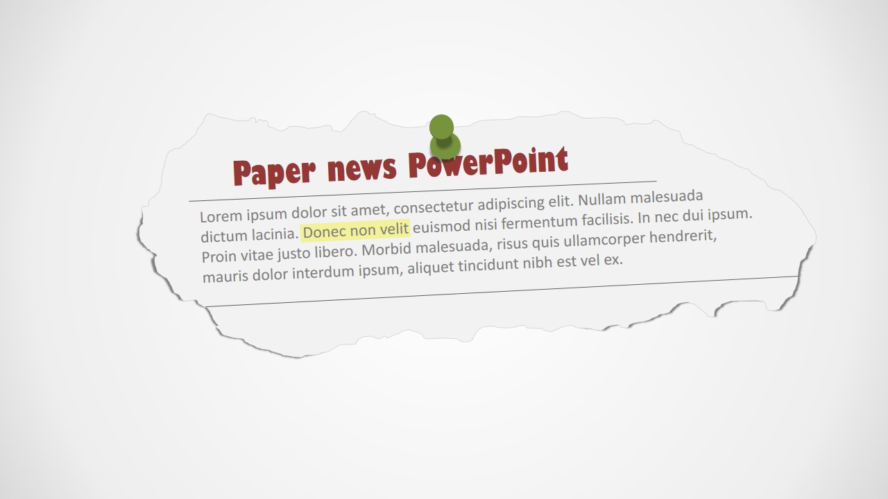 Newspaper Clipping PowerPoint Shapes.