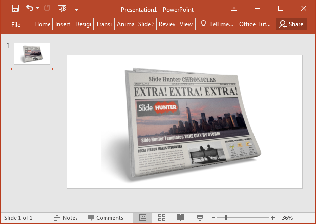 Newspaper Clipart For PowerPoint Presentations.