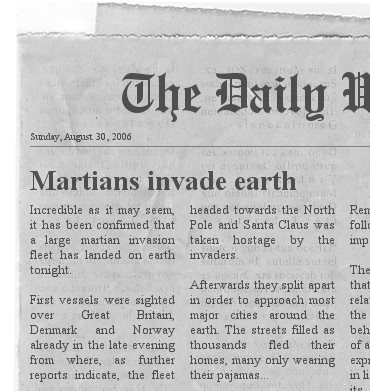 The Newspaper Clipping Generator.