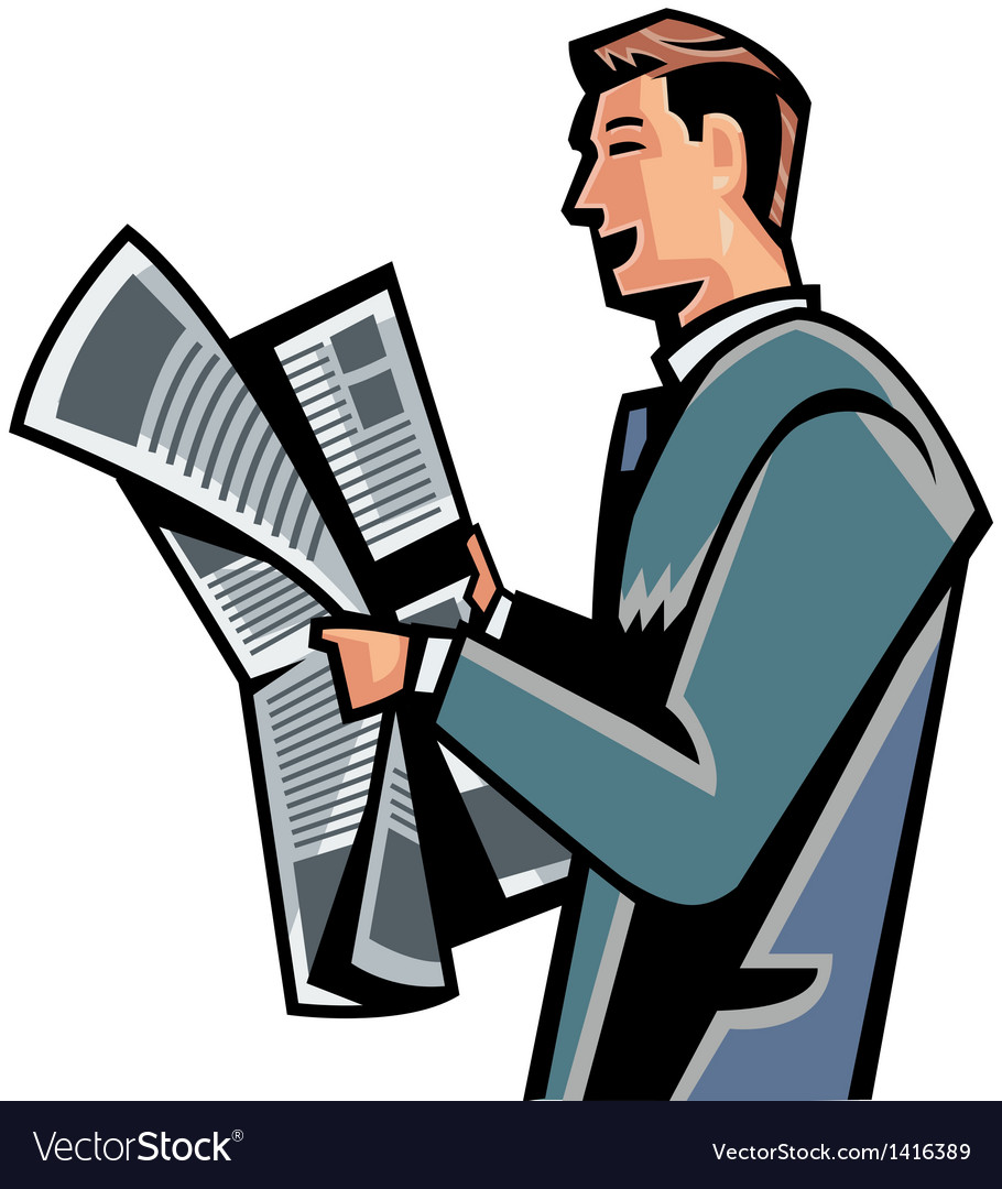 Man reading newspaper clipart 1 » Clipart Station.