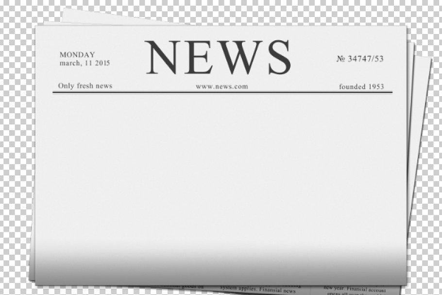 Blank newspaper.