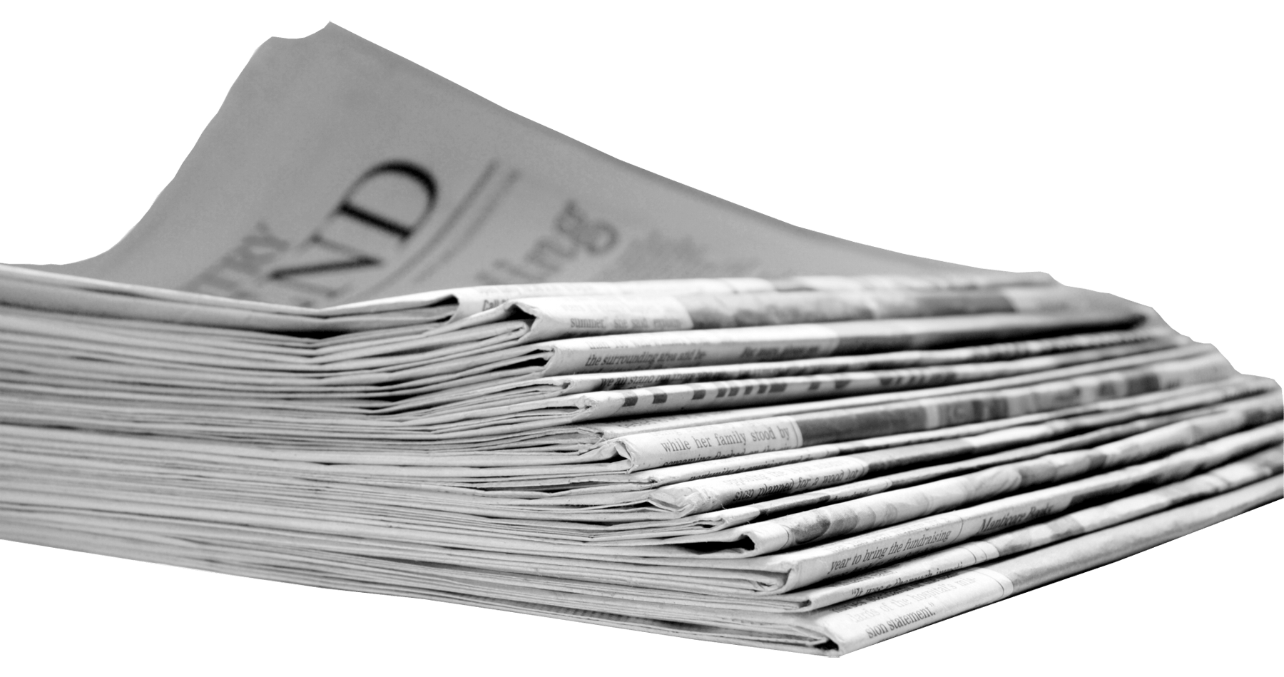 Newspapers Stack transparent PNG.