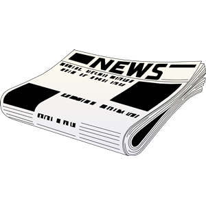 newspaper 01 clipart, cliparts of newspaper 01 free download.