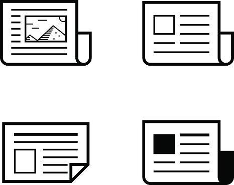 Newspaper vector illustration Clipart Image.