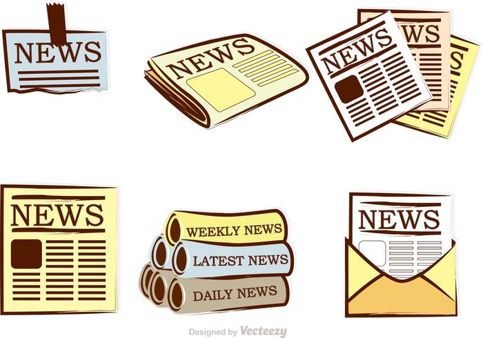Newspaper Vector Icons.