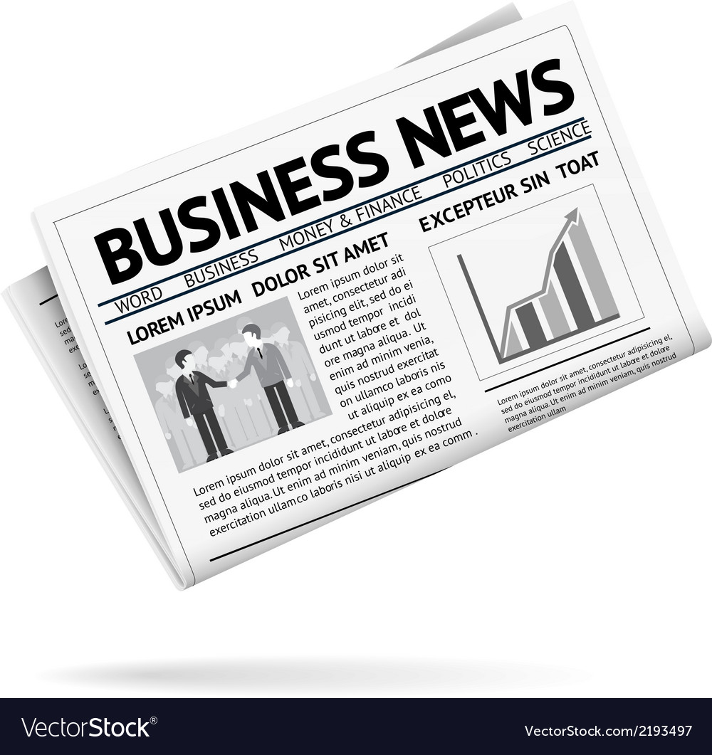 Folded newspaper presenting business news.