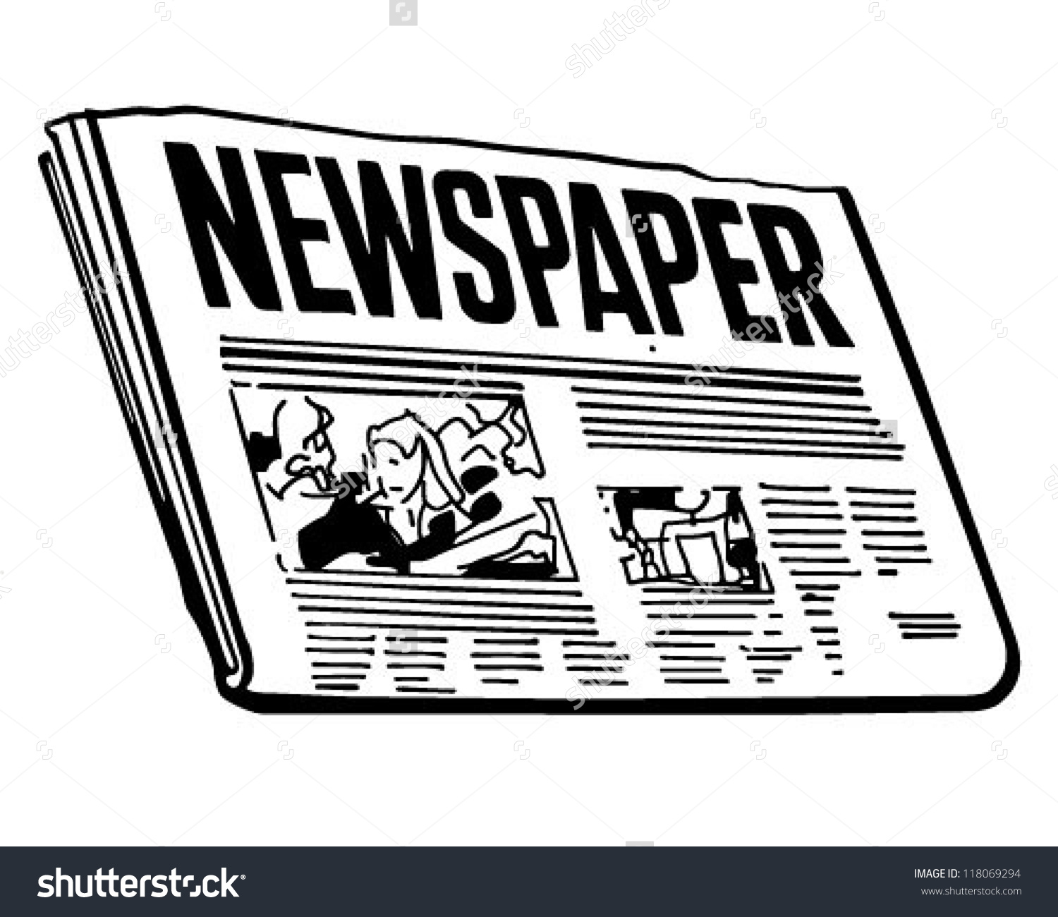 Newspapers clipart.
