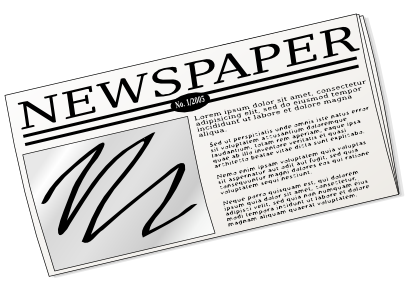 Free to Use & Public Domain Newspaper Clip Art.