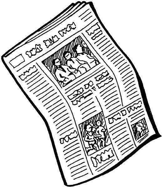 Vintage Newsprint Clipart.