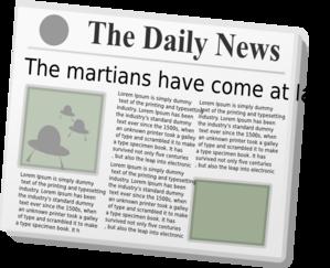 Newsprint clipart.