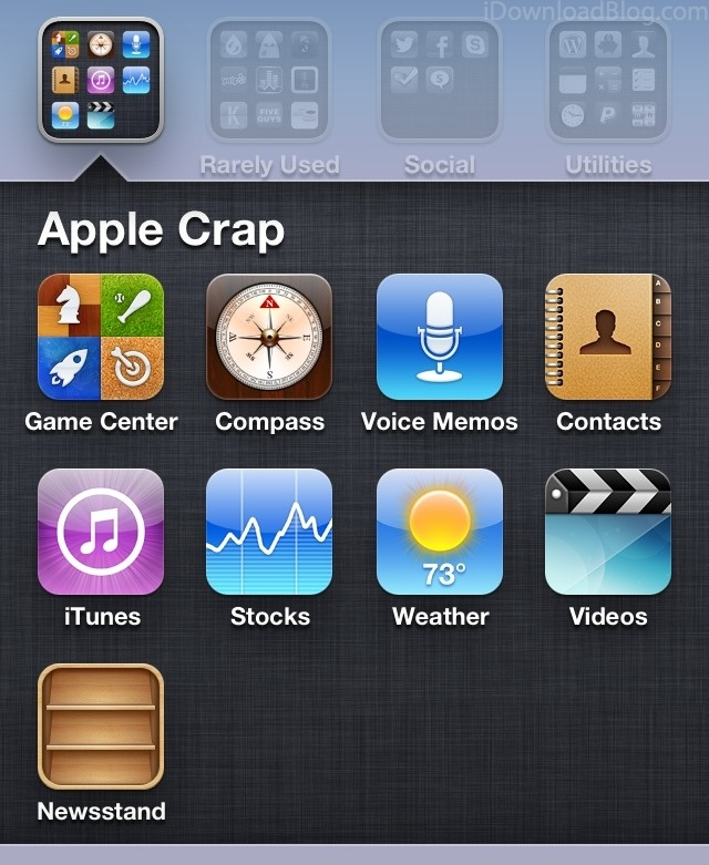 How to hide Newsstand on the iPhone, iPad, and iPod touch, no.