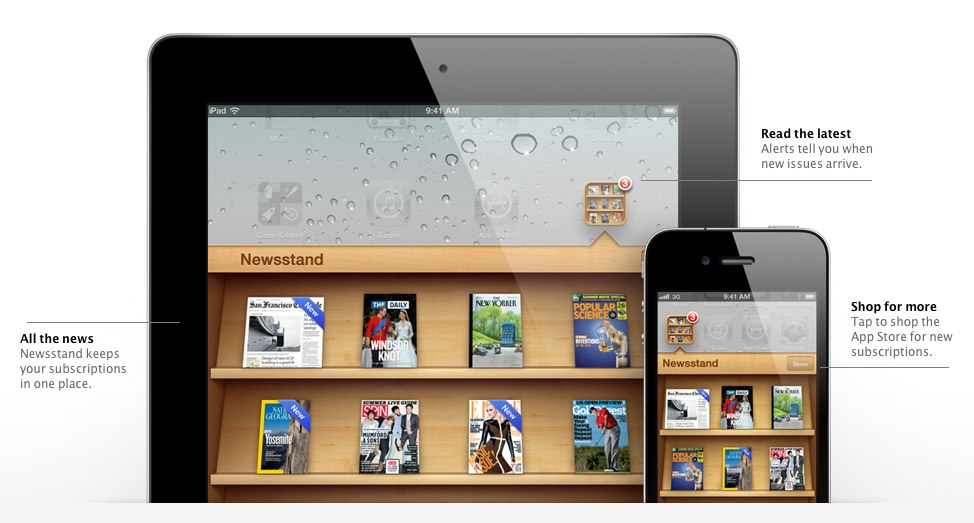 Newsstand for iOS.
