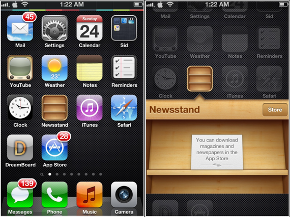 How to Permanently Hide Newsstand icon from iOS 6 / iOS 5 Devices.