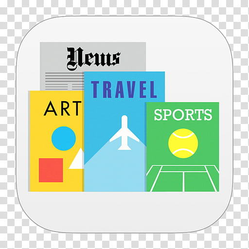 IOS Icons Updated , Newsstand, News, Art, Travel, and Sports.