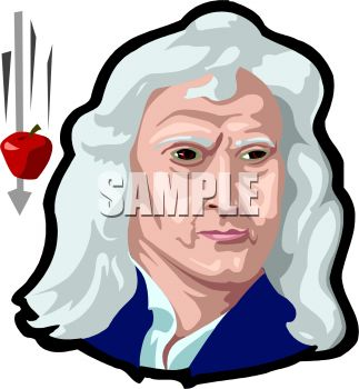 Sir Isaac Newton and a Falling Apple Represent the Discovery.