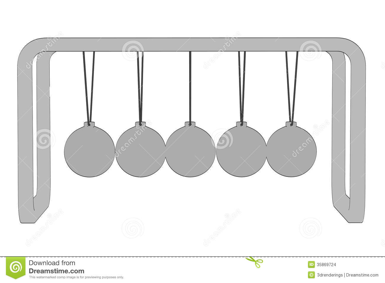 Image Of Newton Cradle Stock Images.