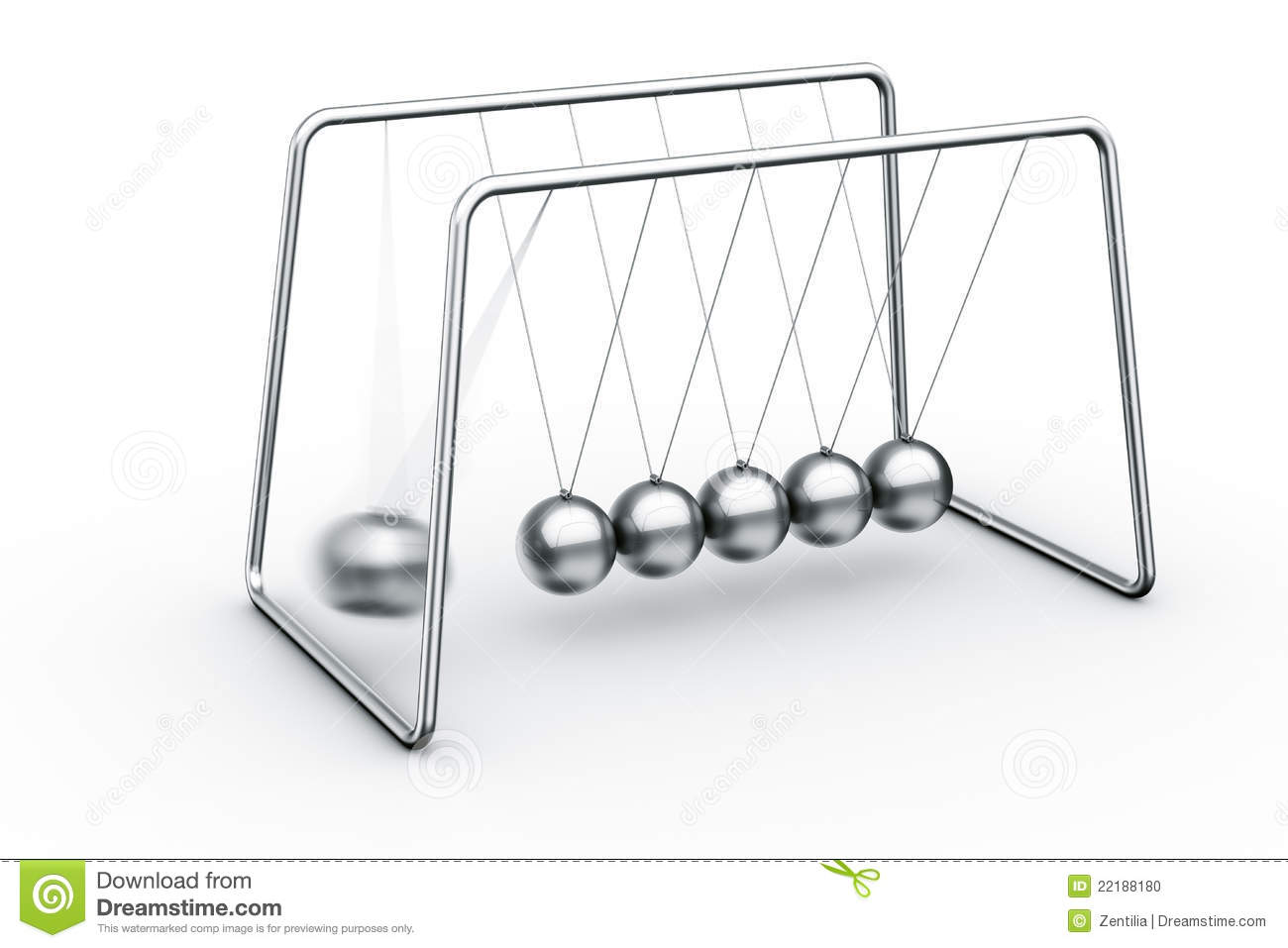 Newtons Cradle Stock Photo.