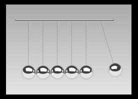 Newton Cradle Vector.