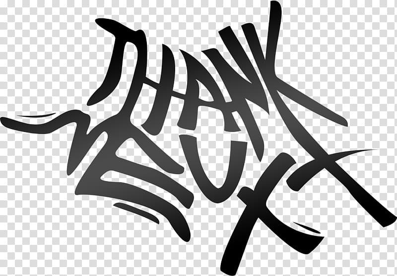 Thank U Next Logo transparent background PNG clipart.
