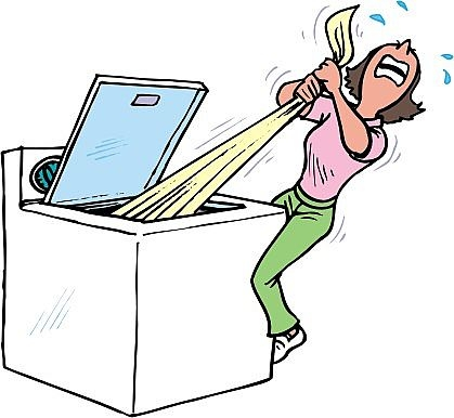 Clip Art Washing Machine Maintenance.