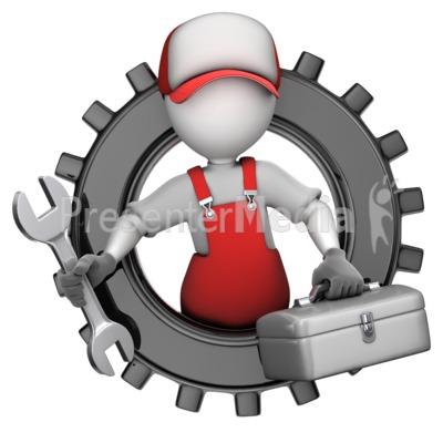 Maintenance Figure In Gear.