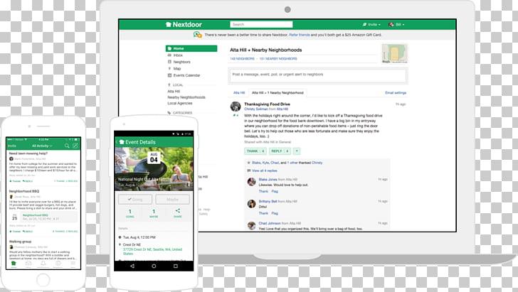 Nextdoor Neighbourhood Social networking service Business.