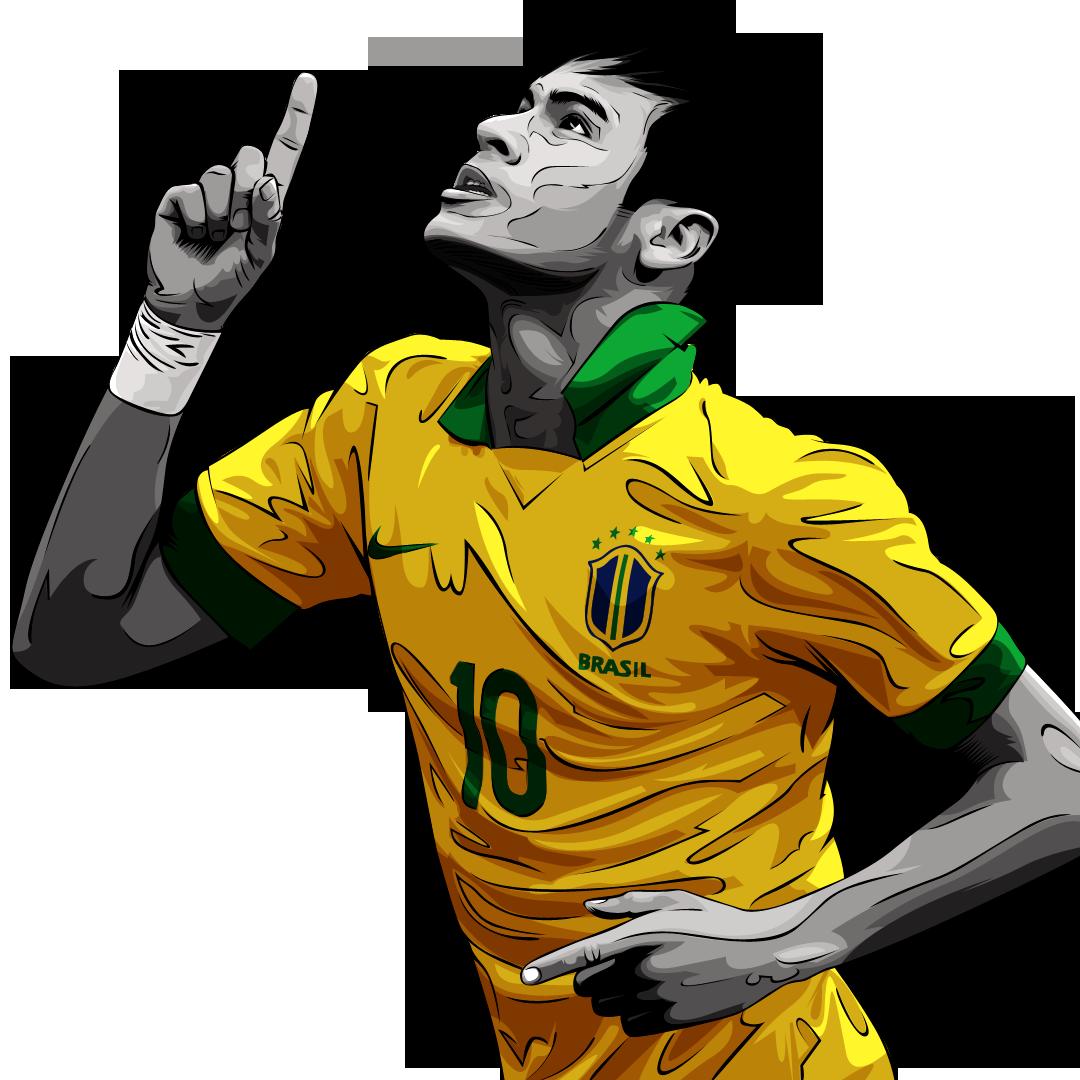 Neymar 10 Brazil Drawing Png.