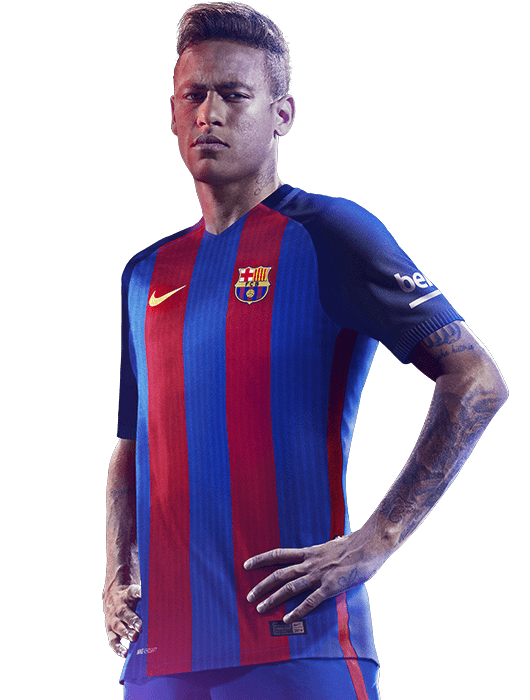 Neymar Side View transparent PNG.