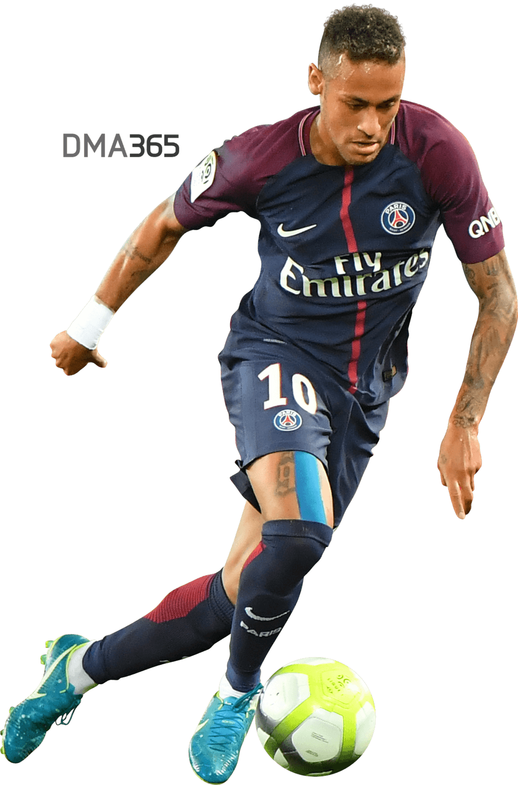 Neymar Png Psg 2018 By Dma365 Clipart Images Black and White.