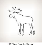 Bull Moose Clipart.