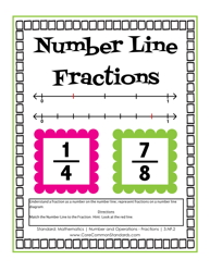 Fractions On A Number Line Clipart.