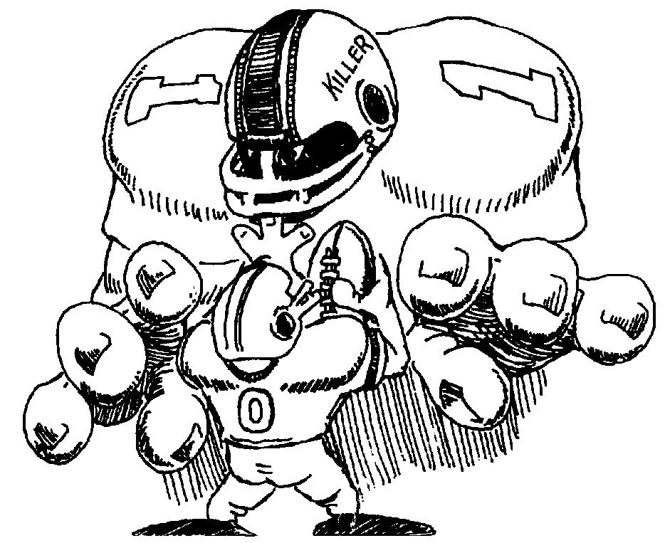 Nfl Football Character Clipart