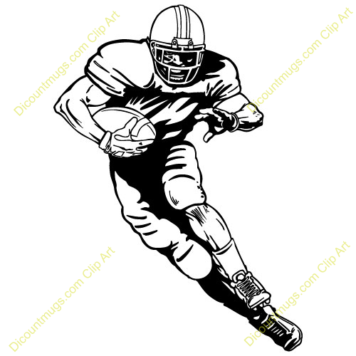 Nfl football character clipart.