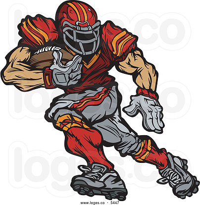nfl football character clipart #11