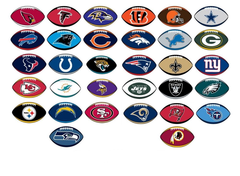 nfl football team logos and names clipart silhouette ...